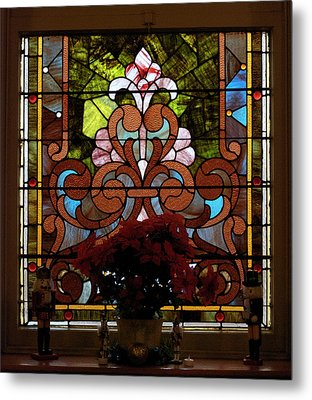 Stained Glass Lc 17 Metal Print by Thomas Woolworth