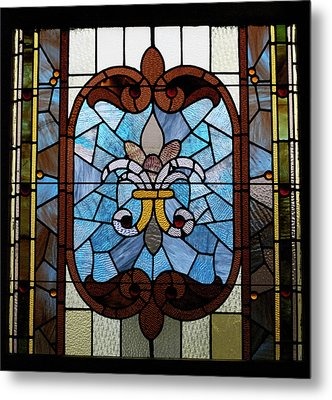Stained Glass Lc 19 Metal Print by Thomas Woolworth