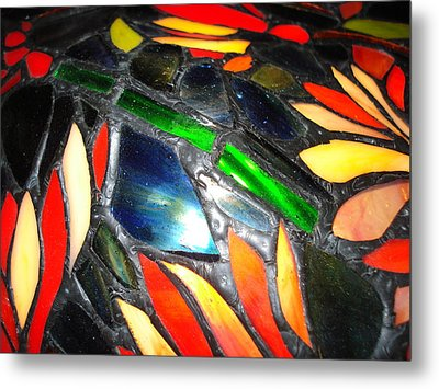 Stained Glass Three Metal Print