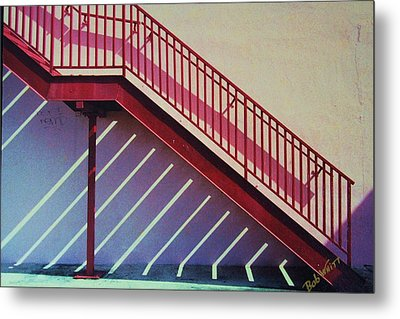 Metal Print featuring the photograph Staircase On A Wall by Bob Whitt