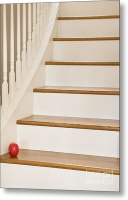Stairs And Apple Metal Print by Andersen Ross