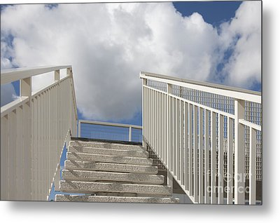Stairs And Clouds Metal Print by Jaak Nilson