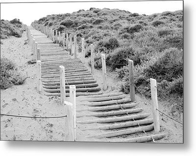 Metal Print featuring the photograph Stairs At Baker Beach by Shane Kelly