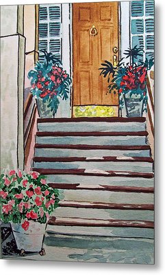 Stairs Sketchbook Project Down My Street Metal Print by Irina Sztukowski