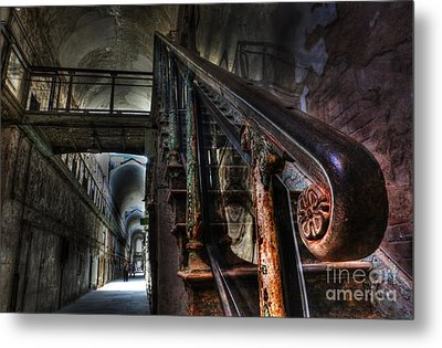 Stairway Of Terror - Eastern State Penitentiary Metal Print by Lee Dos Santos