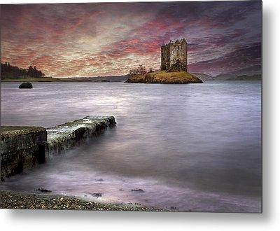 Stalker Castle At Sunset Metal Print