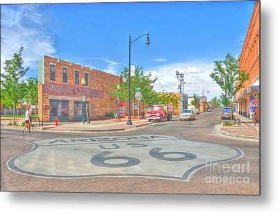 Standin On The Corner Route 66 Metal Print by John Kelly