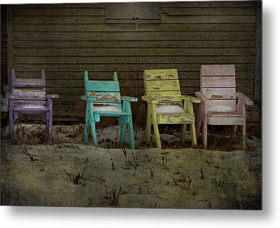 Standing For All Colours  Metal Print by Empty Wall