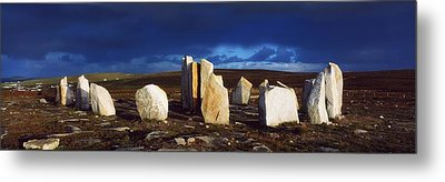 Standing Stones, Blacksod Point, Co Metal Print by The Irish Image Collection