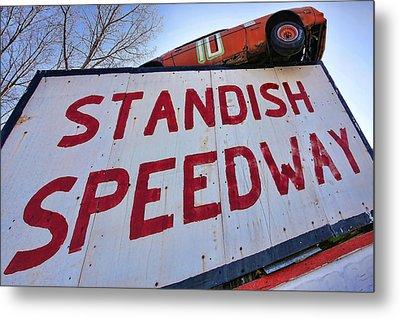 Standish Speedway Metal Print by Gordon Dean II