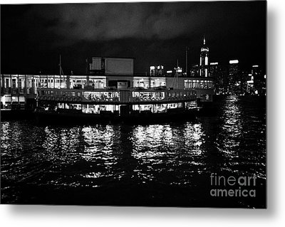 Star Ferry Tsim Sha Tsui Terminal Kowloon Hong Kong Hksar China Metal Print by Joe Fox