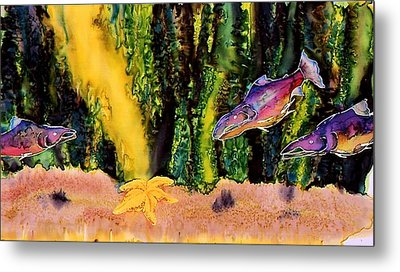 Star Fish Metal Print by Carolyn Doe