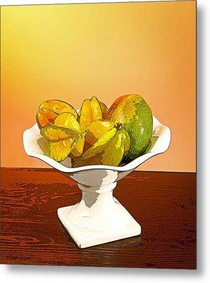 Star Fruit And Mango Metal Print