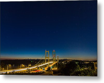 Star Night Over The Narrows Metal Print by Ken Stanback