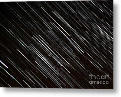 Star Trails At The Equator Metal Print by Stephen Whisman