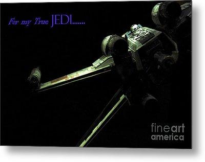 Star Wars Jedi Card Metal Print