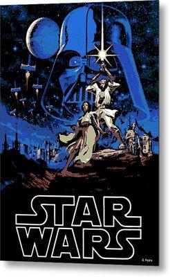 Star Wars Poster Metal Print by George Pedro
