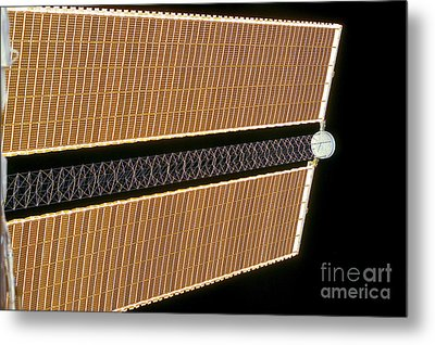 Starboard Solar Array Wing Panel Metal Print by Stocktrek Images