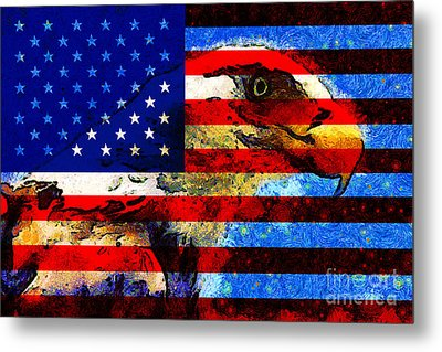 Starry Nights In America . 40d6715 Metal Print by Wingsdomain Art and Photography