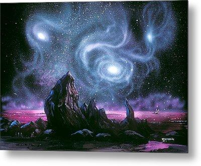Starry Skies On Unknown Shores Metal Print