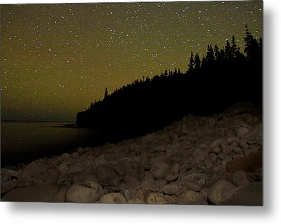 Metal Print featuring the photograph Stars Over Otter Cliffs by Brent L Ander