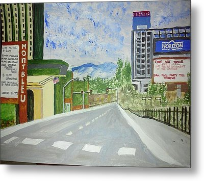 Metal Print featuring the painting Stateline At Lake Tahoe by Carol Duarte