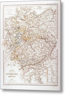 States Of The German Confederation Metal Print by Fototeca Storica Nazionale