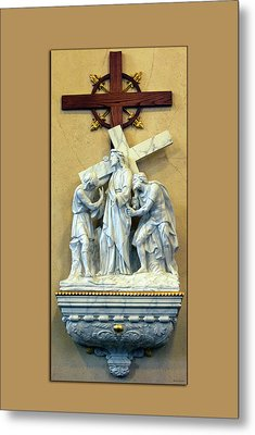 Station Of The Cross 02 Metal Print by Thomas Woolworth