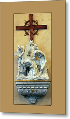 Station Of The Cross 03 Metal Print by Thomas Woolworth