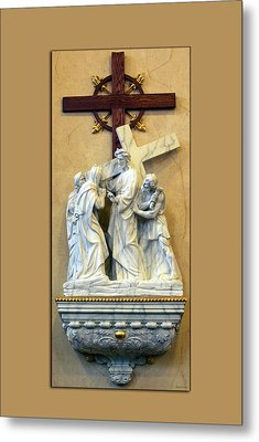 Station Of The Cross 04 Metal Print by Thomas Woolworth