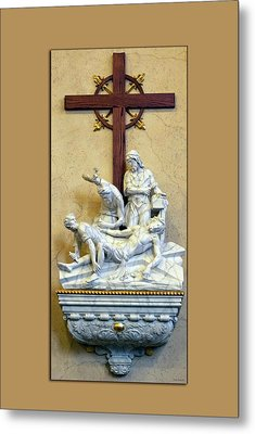 Station Of The Cross 11 Metal Print by Thomas Woolworth