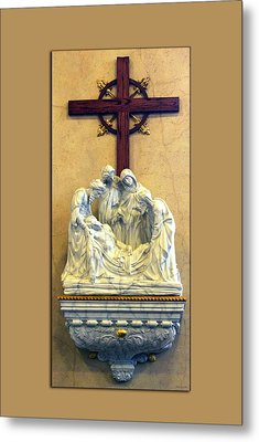 Station Of The Cross 14 Metal Print by Thomas Woolworth