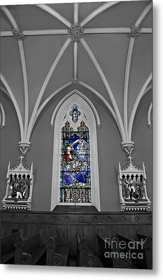 Stations Of The Cross Metal Print by Susan Candelario