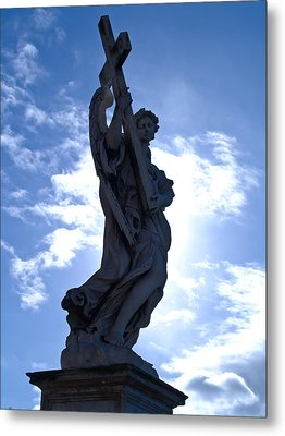 Statue In Rome Metal Print by Andres Leon