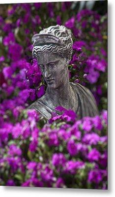 Statue In The Garden Metal Print by Garry Gay