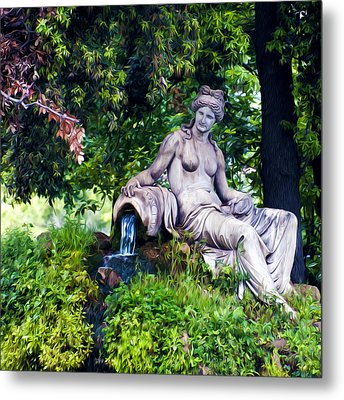 Statue In The Woods Metal Print by Fabrizio Troiani