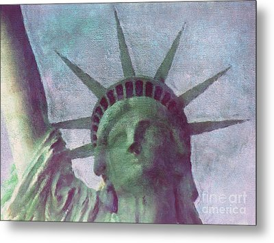 Statue Of Liberty Metal Print by Angela Doelling AD DESIGN Photo and PhotoArt