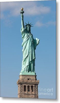 Statue Of Liberty Iv Metal Print by Clarence Holmes