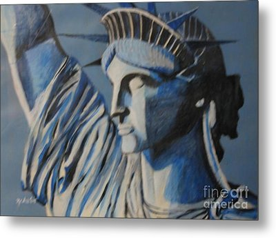 Statue Of Liberty Metal Print by Nedunseralathan R