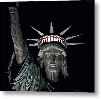 Statue Of Liberty Poster Metal Print by David Pringle
