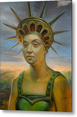 Statue Of Liberty Still Alive Metal Print by Jiri Mesicki