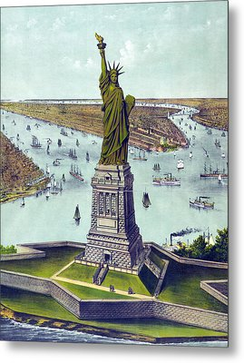 Statue Of Liberty. The Great Bartholdi Metal Print by Everett