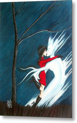 Metal Print featuring the drawing Stay by Danielle R T Haney