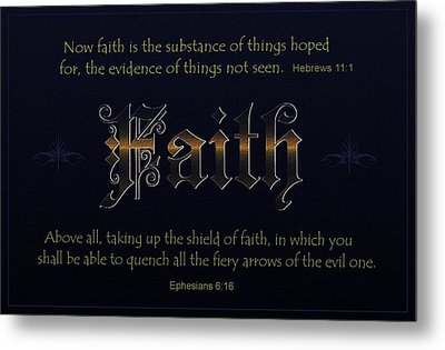 Steadfast Faith Metal Print by Greg Long