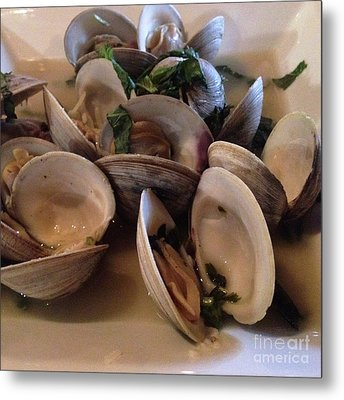 Steamed Clams For Dinner Metal Print