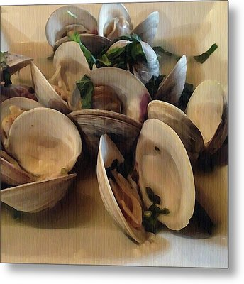 Steamed Clams Metal Print