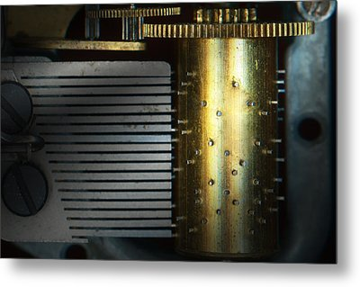 Steampunk - Gears - Music Machine Metal Print by Mike Savad