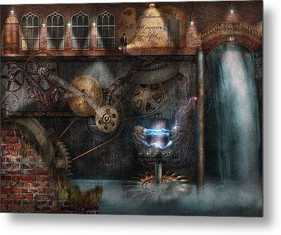 Steampunk - Industrial Society Metal Print by Mike Savad
