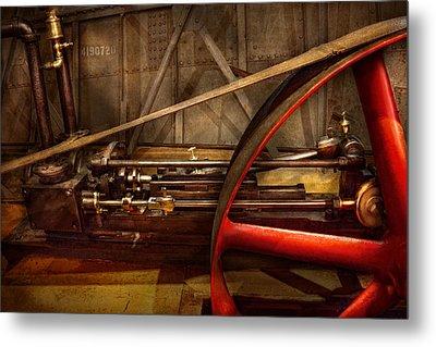 Steampunk - Machine - The Wheel Works Metal Print by Mike Savad