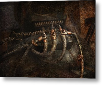 Steampunk - Electrical - Frayed Connections Metal Print by Mike Savad